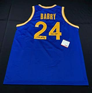 Rick Barry Signed Golden State Warriors Basketball Jersey