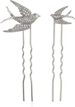Betsey Johnson - Blue by Betsey Johnson CZ Stone Dove Hair Pin