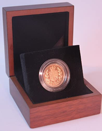 2002 Gold Full Sovereign - Luxury Walnut Presentation Case with Air Tight Coin Capsule