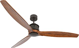 Lucci Air 210507010 Akmani 3 Indoor DC Motor Ceiling Fan with Remote Control, 60 Inch, Oil Rubbed Bronze with Solid Wood Koa Colored Blades