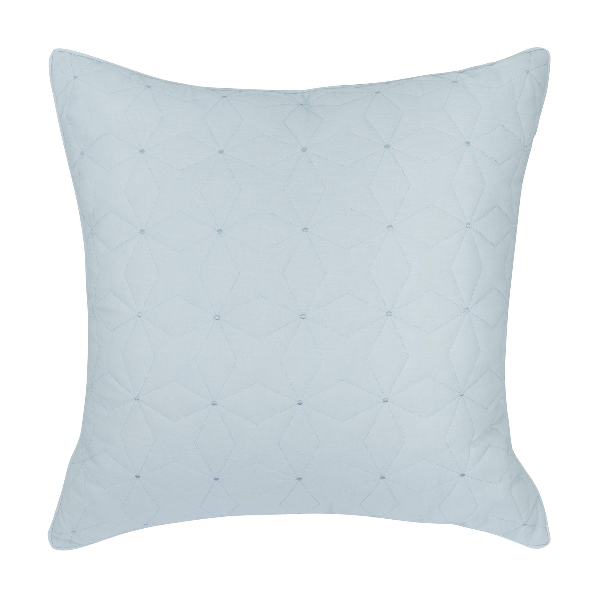 INK+IVY Embroidered Euro Sham With White Finish II11-600