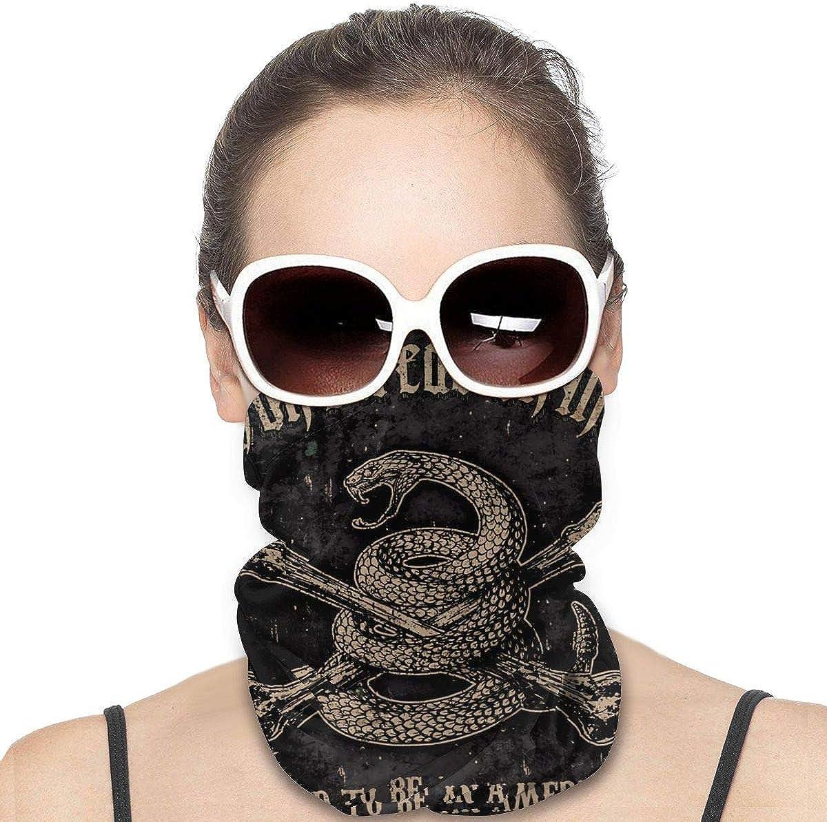 Neck Gaiters for Men - Vintage Dont Tread On Me Snake Motorcycle Mask Fishing Multifunctional Headwear Head Bands Neck Gaiters for Men Headscarf Sun Mask
