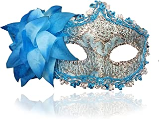 turquoise masks for masquerade ball