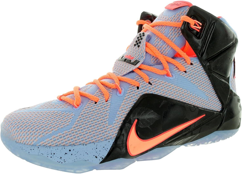 (12 D(M) US, Aluminum Sunset Glow Ht Lv Blk)  Nike Men's Lebron XII Basketball shoes