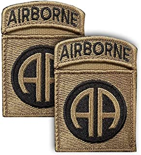 82nd Airborne OCP Scorpion Patch with Airborne Tab and Hook Fastener (pair)