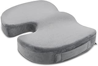 ANTEQI Memory Foam Seat Cushion for Office Chair Car Seat Wheelchair Aircraft Multipurpose Back Pain Relief Sciatica