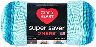 Red Heart Super Saver Ombre Yarn, 10 oz, Scuba