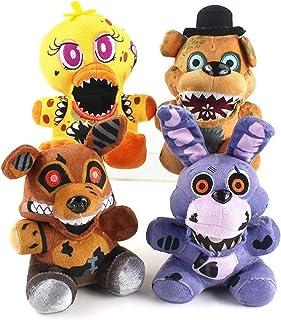 4pcs/set Five Nights At Freddy Plush Toys Bear Foxy Bonnie Chica Plush Stuffed Dolls Birthday Gift For Children