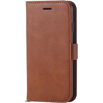 エレコム iPhone 8 ケース カバー 手帳型 レザー サイドマグネット スタンド機能付き ICカード iPhone 7 対応 ブラウン PM-A17MPLFYBR