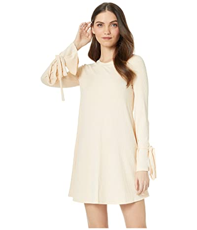 BCBGeneration Tent Dress with Sleeve Ties (Cream) Women
