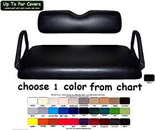 E-Z-Go RXV Custom Golf Cart Seat Cover Set Made with Marine Grade Vinyl - Staple On - Choose Your Color From Our Color Chart!