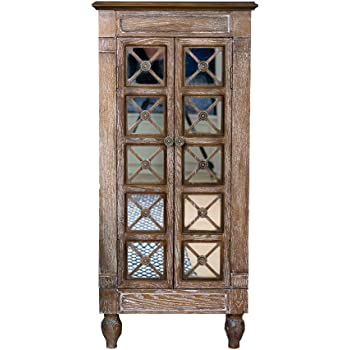 Hives and Honey Cadence Armoire Jewelry Storage Chest, Large, Oak