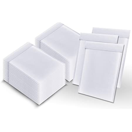 """Poly Padded Bubble Mailers 25 Pack 6/"""" X 9/"""" Shipping White Envelope"""