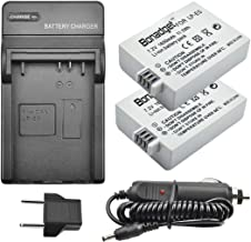 Bonadget LP-E5 Battery Charger Set, 1600mAh 2-Pack Replacement Battery with Charger Compatible with Canon EOS 1000D 500D 450D and EOS Rebel XS XSi T1i, Kiss X3 Kiss X2 Kiss F Camera