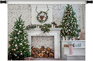 Kate 8X8ft Christmas Backdrops for Photoshoot Christmas Kitchen Photo Backdrops Red Xmas Decoration Photography Props