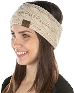 Amazon.com: Women's Cold Weather Headbands - Beige / Cold Weather Headbands  / Hats & Caps: Clothing, Shoes & Jewelry