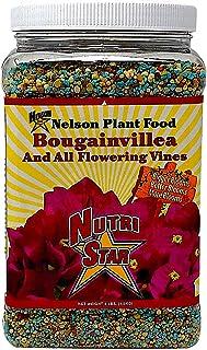 Nelson Plant Food For All Flowering Vines Bougainvillea Trumpet Wisteria Honeysuckles Indoor Outdoor Granular Fertilizer NutriStar 17-7-10 (4 lb)