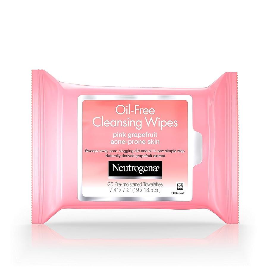上回るうそつきストレージNeutrogena Oil-Free Pink Grapefruit Cleansing Wipes, 25 Pre-moistened Towelettes Count 7.4