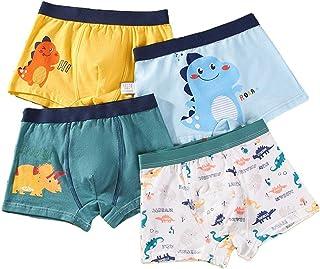 Zingther Little Boys Underwear Toddler Panties Big Kids Undies Super Soft Cotton Briefs (4-Pack Set)