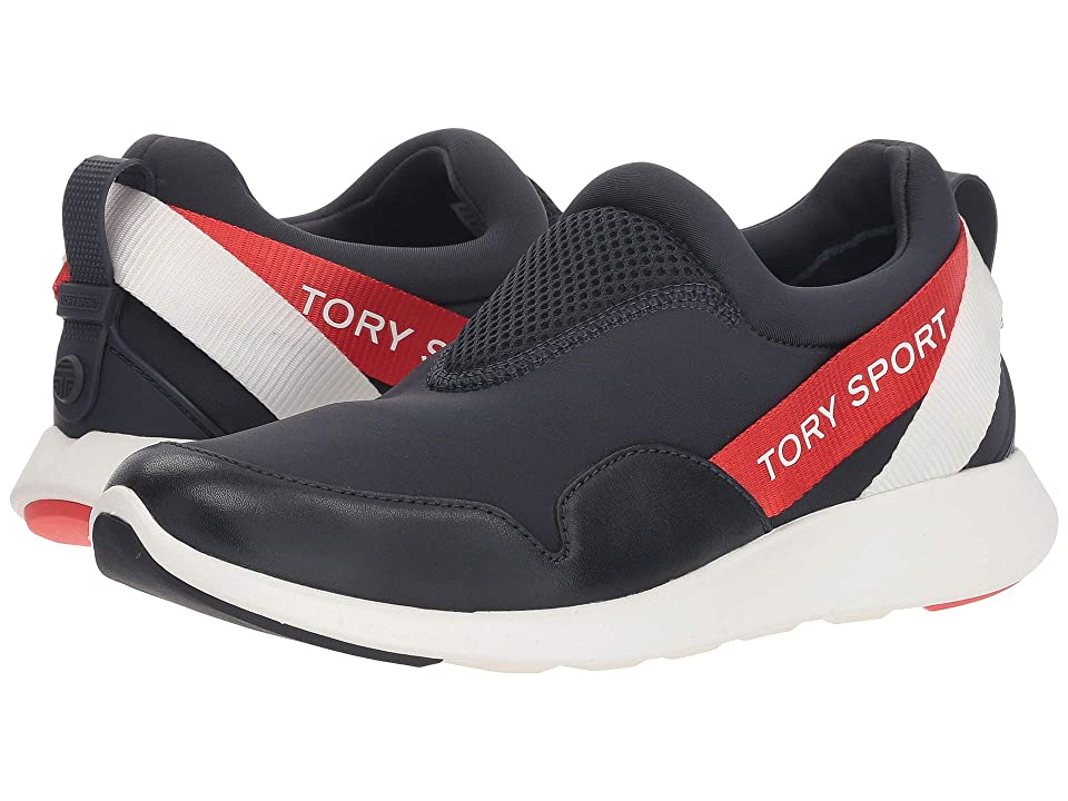 Tory Sport Banner Slip-On Runner (Perfect Navy/Multi) Women