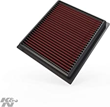 K&N engine air filter, washable and reusable:  2014-2019 Jeep/Fiat L4 1.4/1.6/2.4 L (Compass, Renegade, 500x)  33-5034