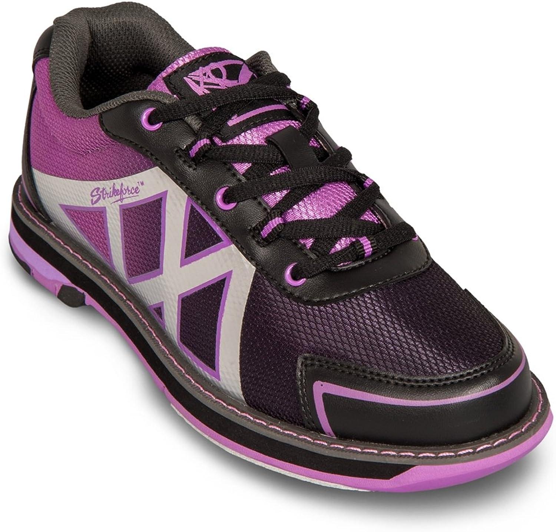 KR Strikeforce Womens Kross Bowling shoes- Black Purple (6 1 2 M US, Black Purple)