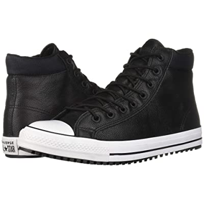 Converse Chuck Taylor All Star Padded Collar Boot Hi (Black/Black/White) Lace up casual Shoes