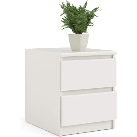 Amazon Com Tvilum Scottsdale 2 Drawer Nightstand White Woodgrain Furniture Decor