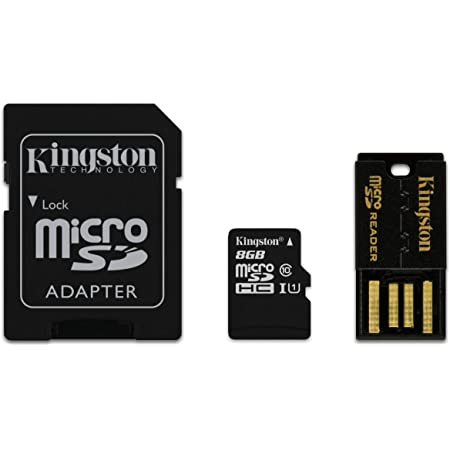 Kingston Microsdhc Memory Card 8 Gb Multi Kit Computers Accessories