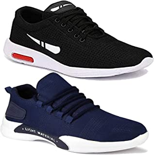 Shoefly Men Multicolour Latest Collection Sports Running Shoes - Pack of 2 (Combo-(2)-9069-1200)