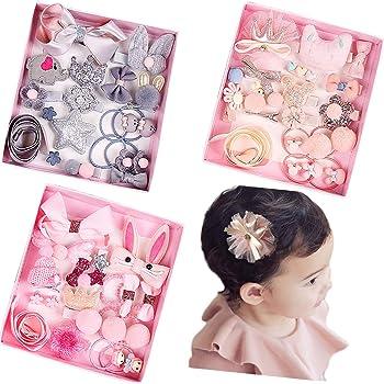 18Pcs Kids Infant Hairpin Baby Girls Bowknot Flowers Motifs Hair Clip Set GX