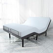 SNODE Adjustable Bed Frame (Queen Size) - Smart Electric Bed Frame with Backlit Wireless Remote, Adjustable Head and Foot ...