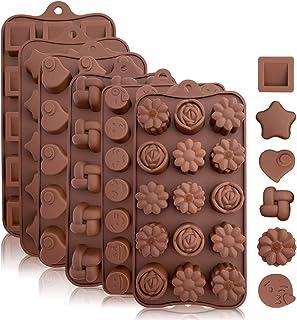SDGDFXCHN Dulces de silicona y moldes de chocolate, Formando caramelos duros o gomosos, Bombas