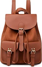 Gnirue PU Leather Backpack for Women Elegant Ladies Travel Shoulder Bag