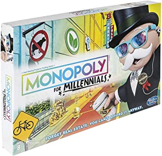 Monopoly Millennials Special Edition - 2 to 4 Players - Family Board Games - Ages 8+
