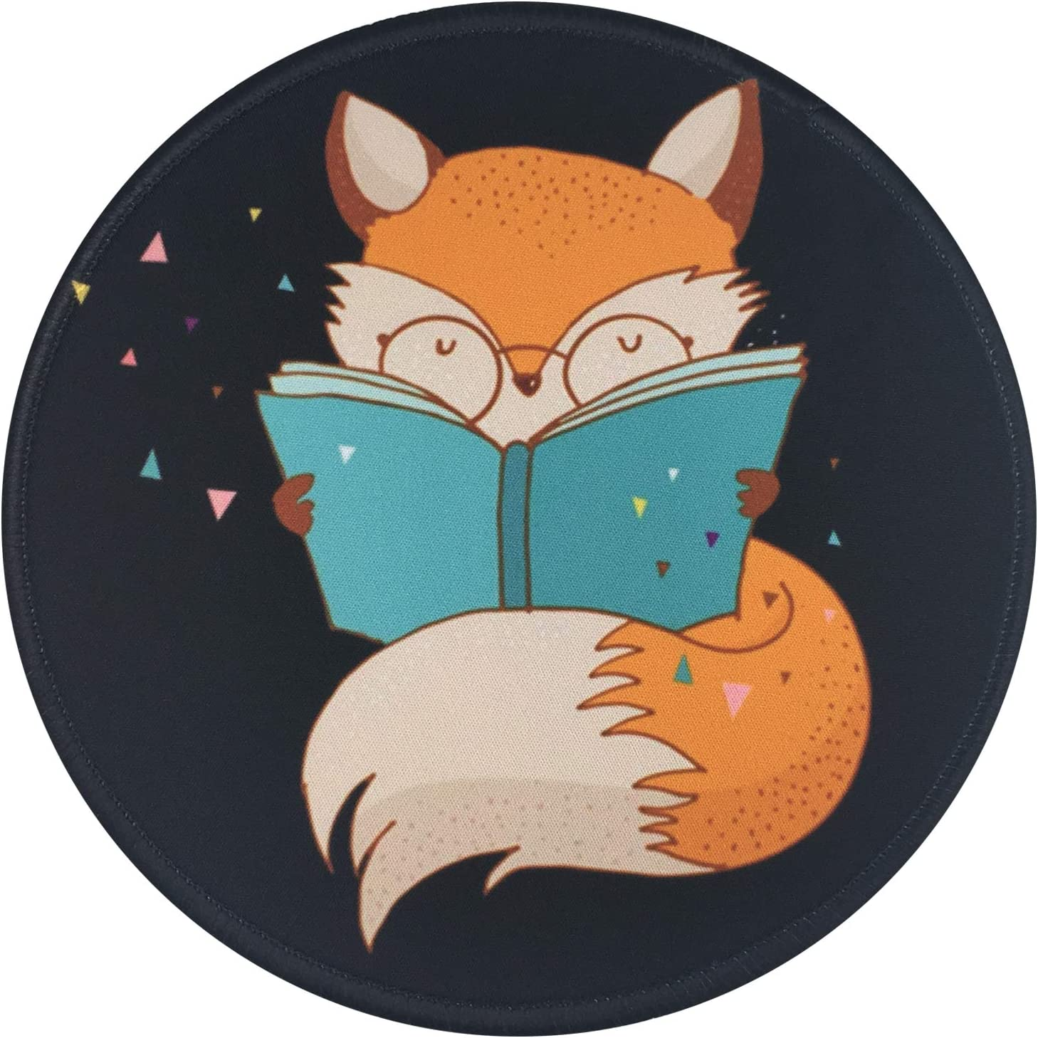 Mouse Luxury Pad Cute Fox Read Gaming Max 56% OFF Pattern Mousepad Book
