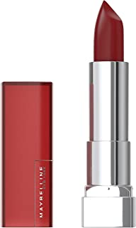 Maybelline Color Sensational Lipstick, Lip Makeup, Matte Finish, Hydrating Lipstick, Nude, Pink, Red, Plum Lip Color, Burg...