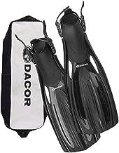 Dacor Mariner Scuba Diving & Snorkeling Fins | Open Heel Fins with Carry Bag| Pro Grade Performance & Comfort at Recreatio...
