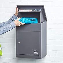 Wandmontage Smart Parcel Drop Box Donkergrijs voor Veilige Meerdere Internet Leveringen van Grote Levering Pakketten Weerb...