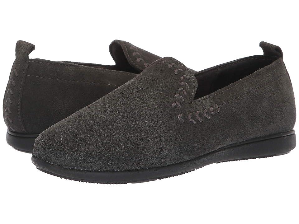 Minnetonka Shay (Charcoal) Women's Slippers, Gray