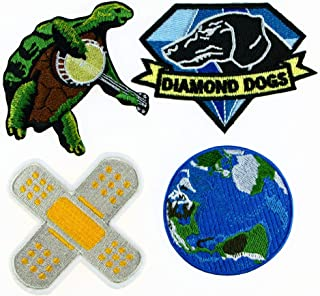 Grateful Dead Terrapin Banjo Diamond Dogs Blue Earth Cute Band Aid Sew or Iron on Patches
