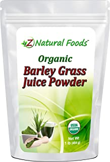 Organic Barley Grass Juice Powder - 1 lb - Amazing Green Superfood Perfect For Smoothies, Drinks, & Recipes - Rich In Vita...