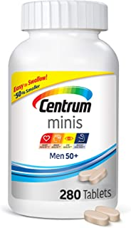 Centrum Minis Men 50+ (280 Count) Multivitamin/multimineral Supplement Tablets, 280 Count + 2 Free Months of obé Fitness