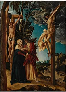 Posters Lucas Cranach《The Crucifixion》Canvas Painting Posters And Prints Wall Art Pictures For Living Room Bedroom Decor -...