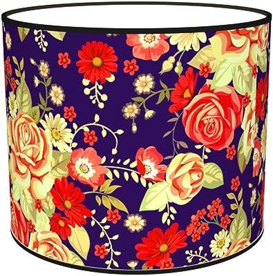 Abat-jours 7111306555378 Imprimé Violo Lampe de Chevet, Tissus/PVC, Multicolore