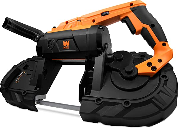 WEN 94396 10 Amp 5 Inch Variable Speed Handheld Portable Band Saw For Metal