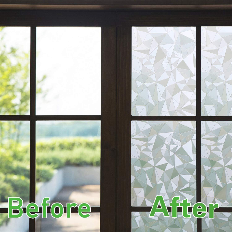 Zindoo Vinilos para Cristales 3D Vinilo de Ventana Vinilo Translucido Vinilos Decorativos Cristales Laminas para Ventanas 44.5 * 200cm: Amazon.es: Hogar
