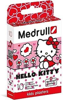 Medrull - Yeso suave para niños, impermeable, 2 cajas (2 x 10 piezas), tamaño 25 x 57 mm, embalado individualmente, color rosa