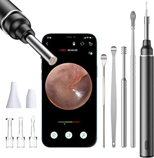 Ear Wax Removal, Ear Wax Removal Tool with Camera, Otoscope, 1080P FHD, 6 LED Lights, Ear Wax Removal Kit ,Wireless Earwax...
