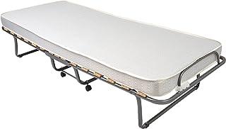 Veraflex Como Lit d'appoint pour invité, camping pliant - pliable avec matelas 80 x 190 cm avec étui de protection